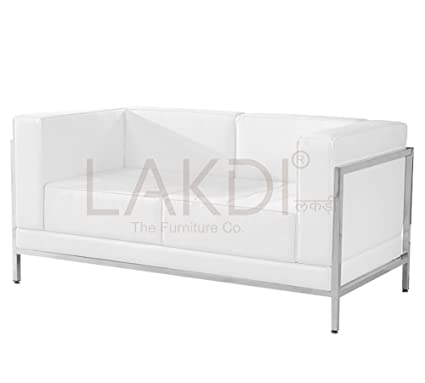 Pleasing Lakdi Fully Cushioned Two Seater Sofa With Stainless Steel Uwap Interior Chair Design Uwaporg