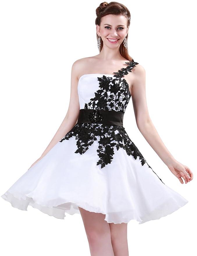 Vestidos Blancos Por la Rodilla Cinturón decorado Vestido De Moda Sin Cuello 36: Amazon.es: Ropa y accesorios