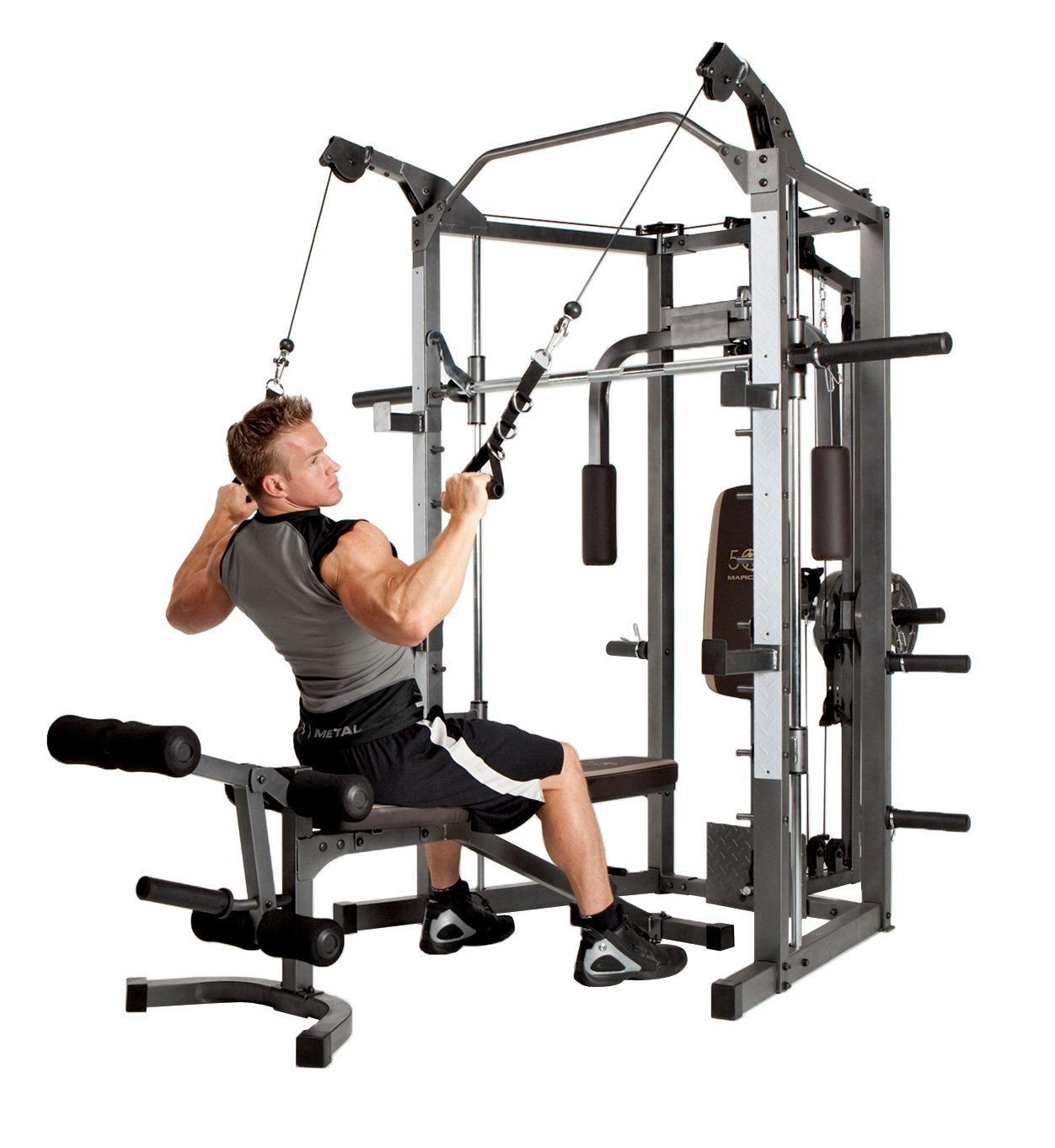 Marcy Smith Machine with Bench and Weight Bar – Home Gym Equipment SM-4008 by Marcy (Image #2)