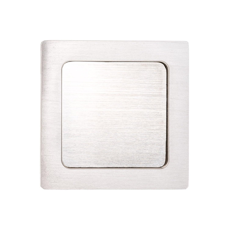 70/x 70/x 10/mm aspecto de acero inoxidable Mango caracola adhesiva 1/par rectangular