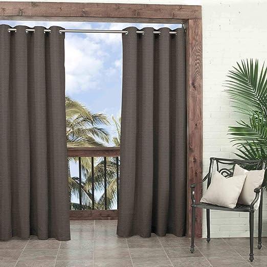 1Pieza 84 cortina de humo color Gazebo solo Panel, color marrón ...