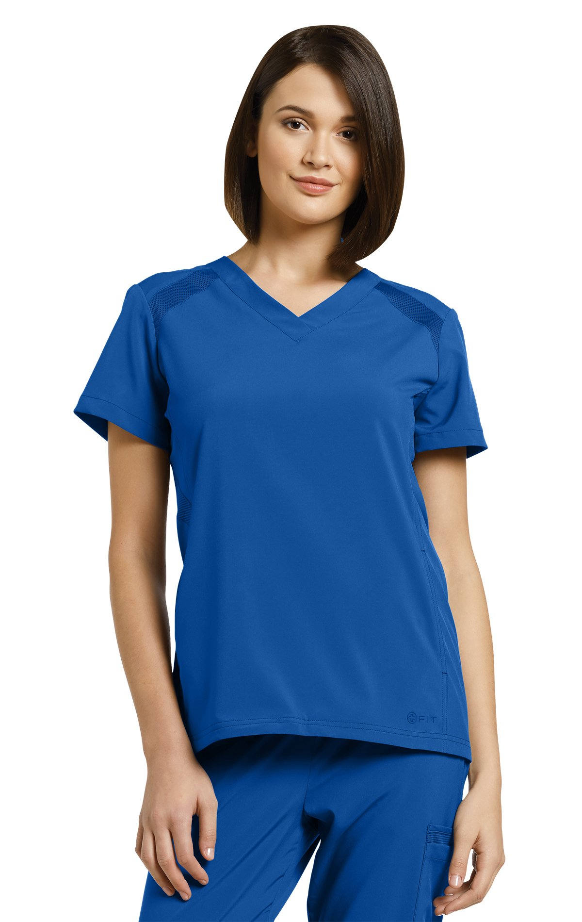 Oasis Fit By White Cross Women's V-Neck Solid Scrub Top Medium Royal