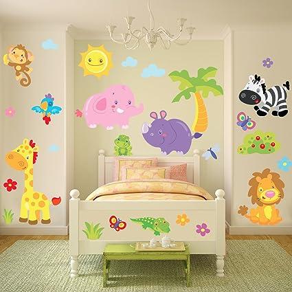 Sticasa® - Stikid® - La Giungla Divertente stickers murali bambini ...