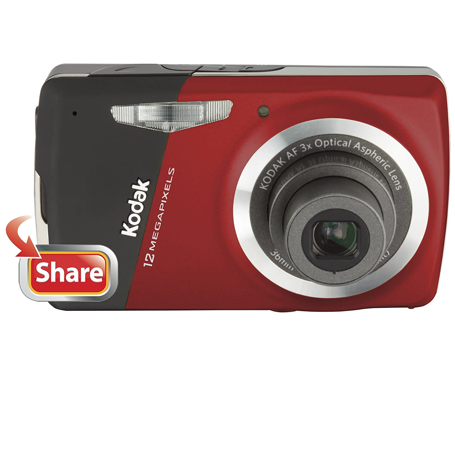 Amazon.com : Kodak Easyshare M530 12 MP Digital Camera with 3x Wide Angle  Optical Zoom and 2.7-Inch LCD (Red) : Point And Shoot Digital Cameras :  Camera & ...