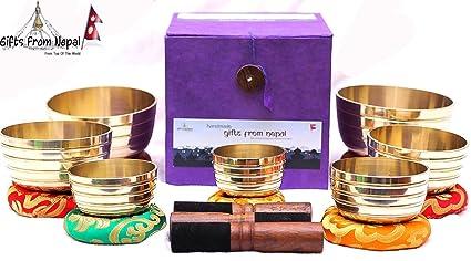 Amazon.com: Cuencos de curación Chakra tazón tibetano de ...