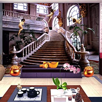Mural Fotomural Papel Pintado Sala De Estar Entrada Papel Tapiz Mural Boda Fotografía De Fondo Pintura De Fondo Palacio Escalera Foto Papel Tapiz, 105 * 150 Cm: Amazon.es: Bricolaje y herramientas