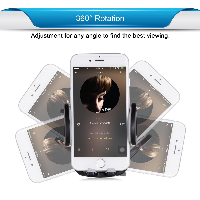 iVoler Soporte Universal Movil Coche con Actualizado Pinza para Rejillas de Ventilaci/ón de Coche para iPhone,Samsung,Huawei,LG,Motorola,Xiaomi,BQ Aquaris,Sony y Android M/óviles Dispositivo GPS.