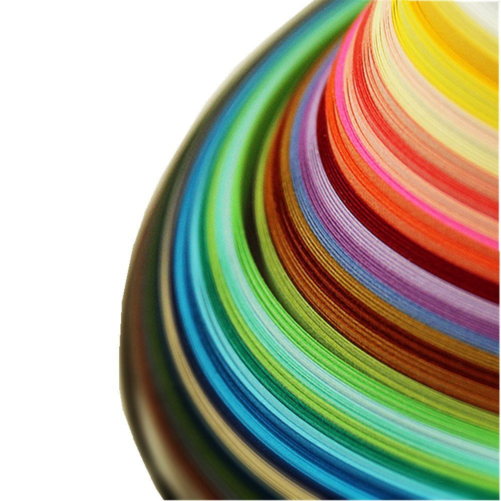 IMISNO Paper Quilling Strips set 1040 Strips 26 Colors (3/5/7/10mmx38cm,Pack of 4 Sets)