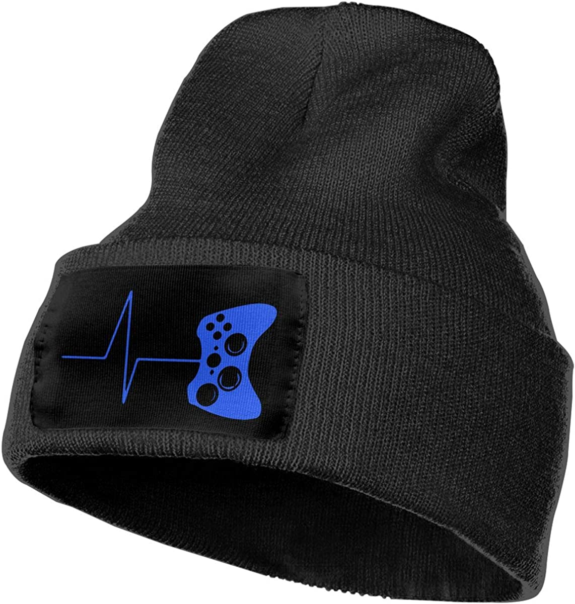 Heartbeat of A Gamer Unisex Solid Color Knit Beanie Hat Stretchy /& Soft Winter Ski Knit Cap