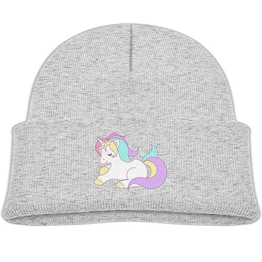 Cute Girly Pastel Rainbow Unicorn Knitted Hats Soft Fleece Beanies Caps Girl e4afb8eefa9