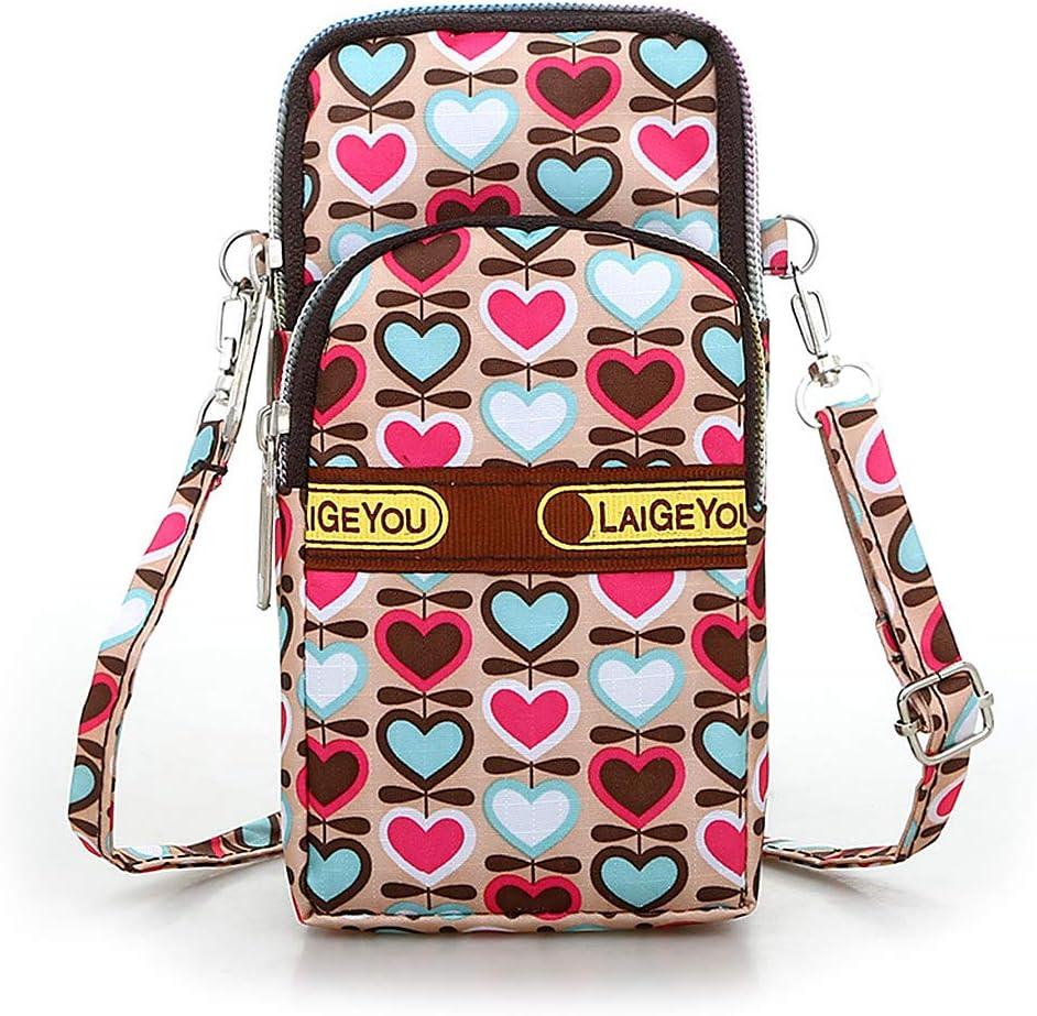 KOVIPGU Women Crossbody Mobile Phone Shoulder Bag Pouch Case Belt Handbag Purse Wallet
