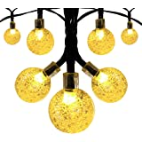 Solar Globe String Lights, Innoo Tech Outdoor 19.7 ft 30 LED Warm White Crystal Ball Christmas Globe Lights for Garden Path, Party, Bedroom Decoration