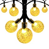 Amazon Price History for:Innoo Tech Solar Globe String Lights Outdoor 19.7 ft 30 LED Warm White Crystal Ball Christmas Globe Lights for Garden Path, Party, Bedroom Decoration