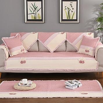Amazon Com Cotton Anti Slip Sure Fit Sofa Covers Mat Sectional Sofa