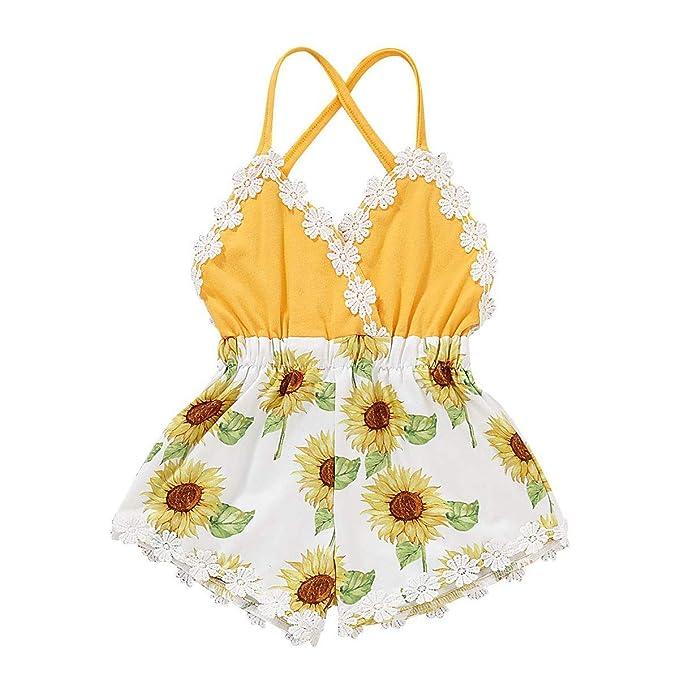 Amazoncom Verano Bebé Niña Ropa Recién Nacido Lindo