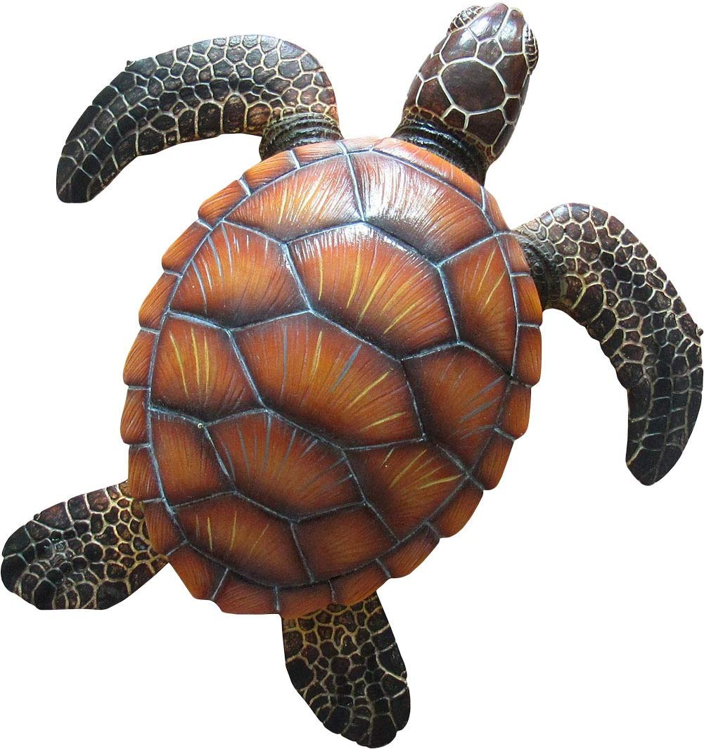"""DWK""""Shellback Seafarer"""" Sea Turtle Wall Mount Sculpture 