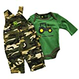 John Deere 2 Piece Layette Set Overalls and Onesie Camo