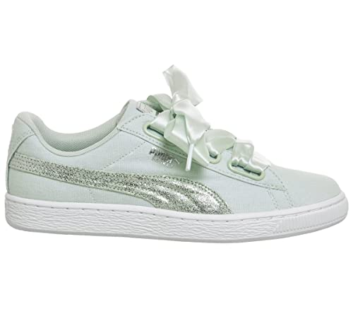 Puma Basket Heart Canvas WNS Blue Flower White Silver 2018 37 Blue Flower White Silver