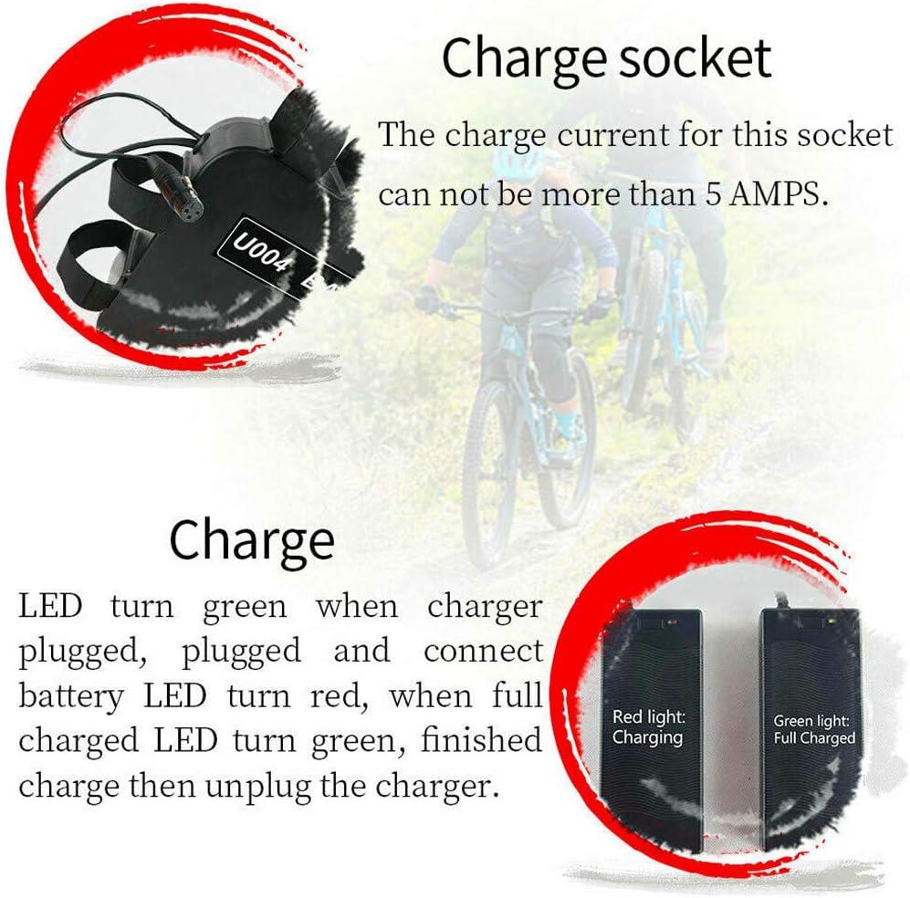 48V20AH bicicleta eléctrica batería de litio bicicleta de montaña triángulo puerto USB Batería con BMS y la placa protectora de PCB for 1500w-750w Bafang u otro motor (con cargador de 2.5A),48V20AH: Amazon.es: