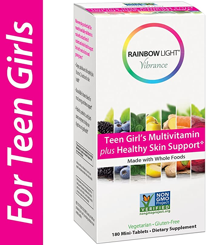 Amazon.com: Rainbow Light Vibrance Teen Girl's Multivitamin Plus Healthy  Skin Support,Dietary Supplement Made with Whole Foods,180 Count  Mini-Tablets: Health & Personal Care