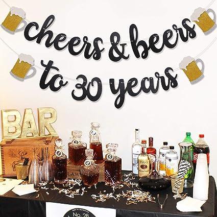 Amazon.com: Cheers & Beers – Bandeja de 30 años con ...