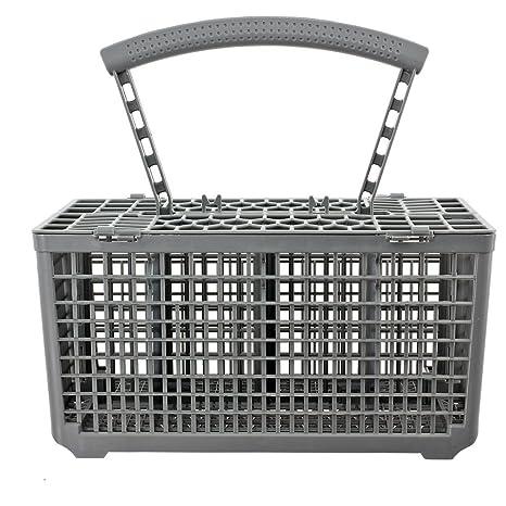 SUDS-ONLINE cesta de cubiertos jaula & tapa para Bosch lavavajillas (mango extraíble,