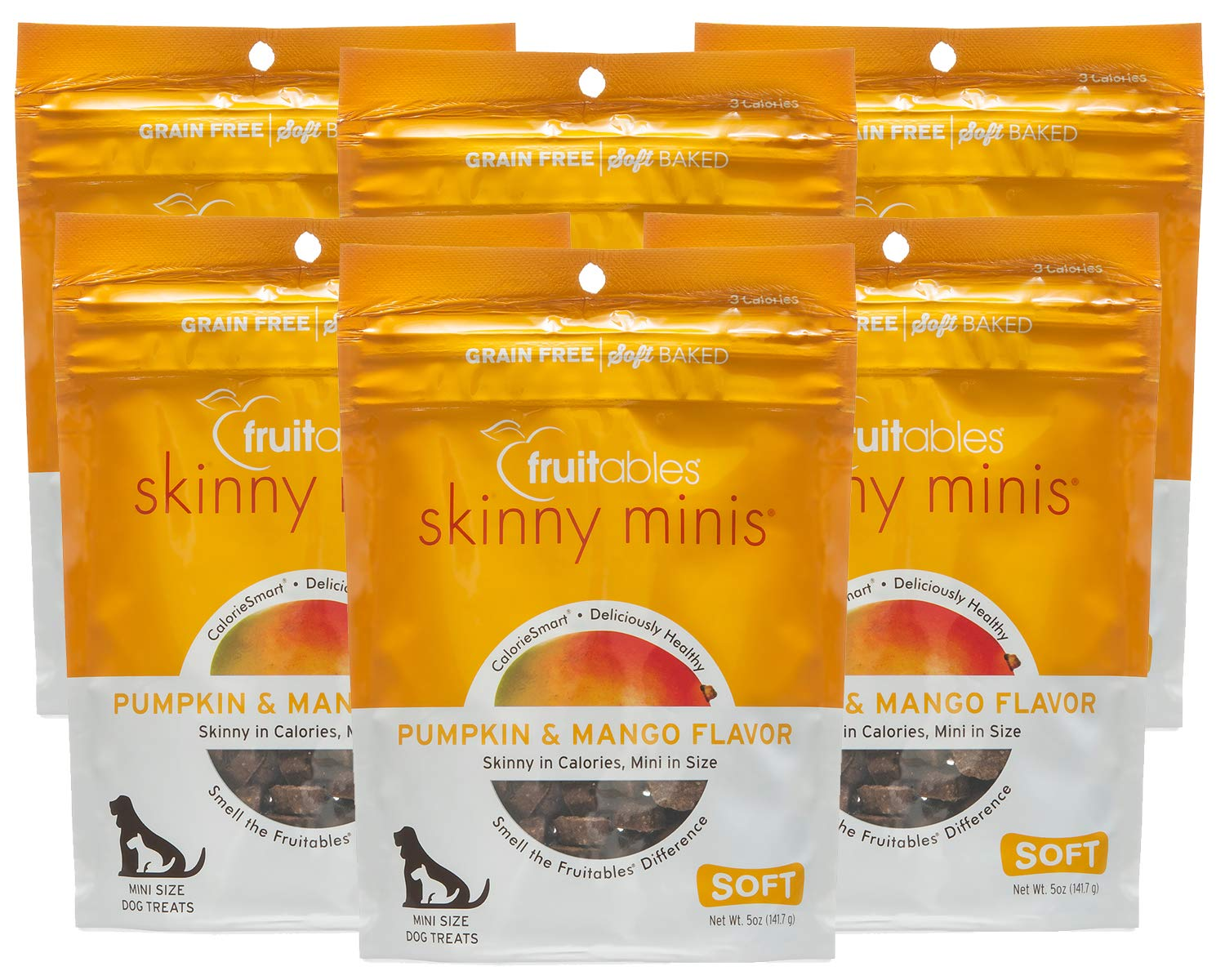 Fruitables Skinny 5 Ounce Minis Pumpkin Mango Soft Chewy Dog Treats