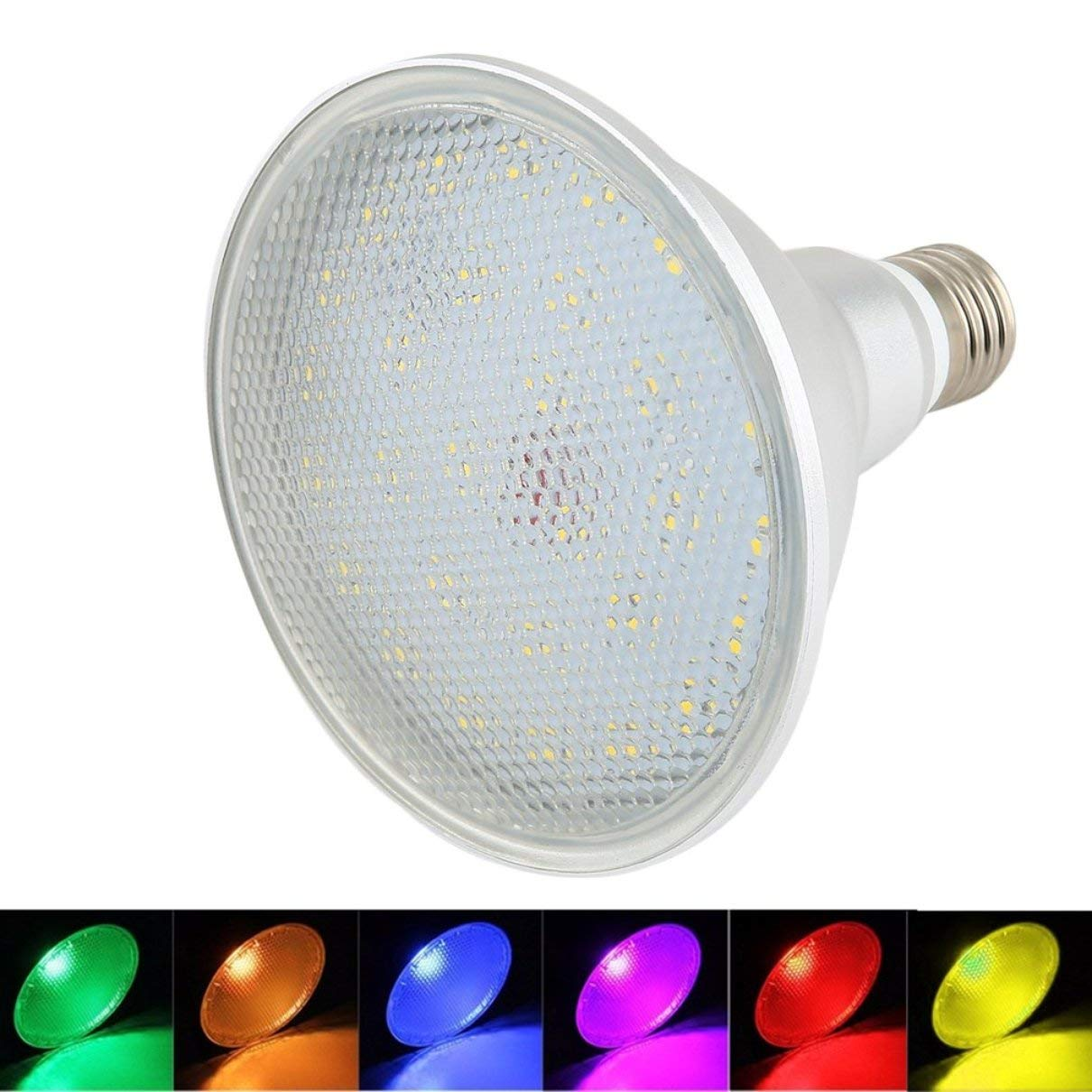 Amazon.com : Huldaqueen 20W LED RGB Par38 LED Spot RGB High Brightness Color Changing Lampada LED Bombillas LED Lighting Flood Lamp Remote Control : Garden ...