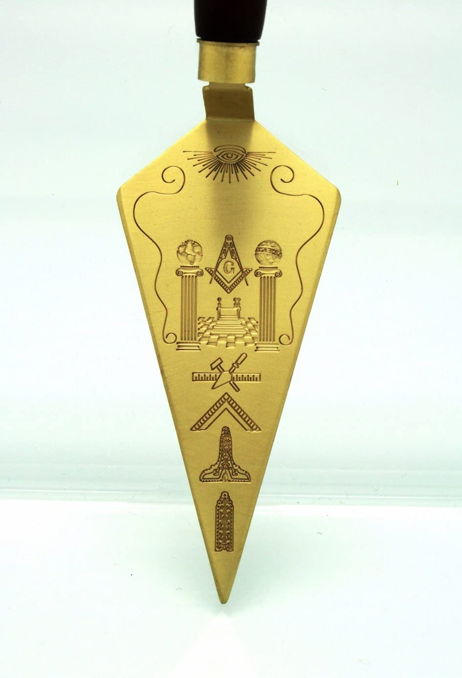 Masonic Trowel Master Mason Freemason Gift Metal Gold Plating Engraving T1