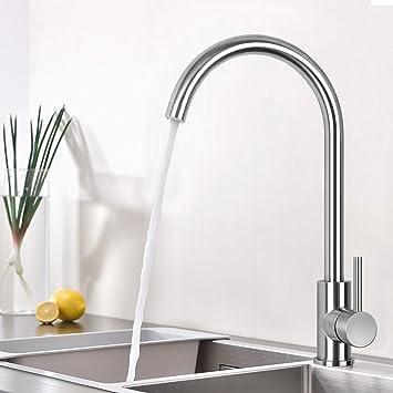 Wasserhahn Küche Edelstahl Küchenarmatur Mischbatterie Küche ...