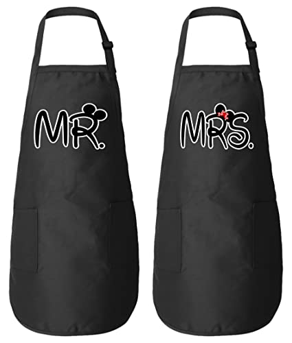 Amazon Mr Mrs Matching Couple Aprons For Him And Her His Her
