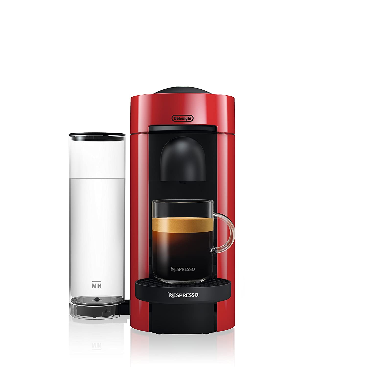 Nespresso VertuoPlus Coffee and Espresso Maker by De'Longhi, Red
