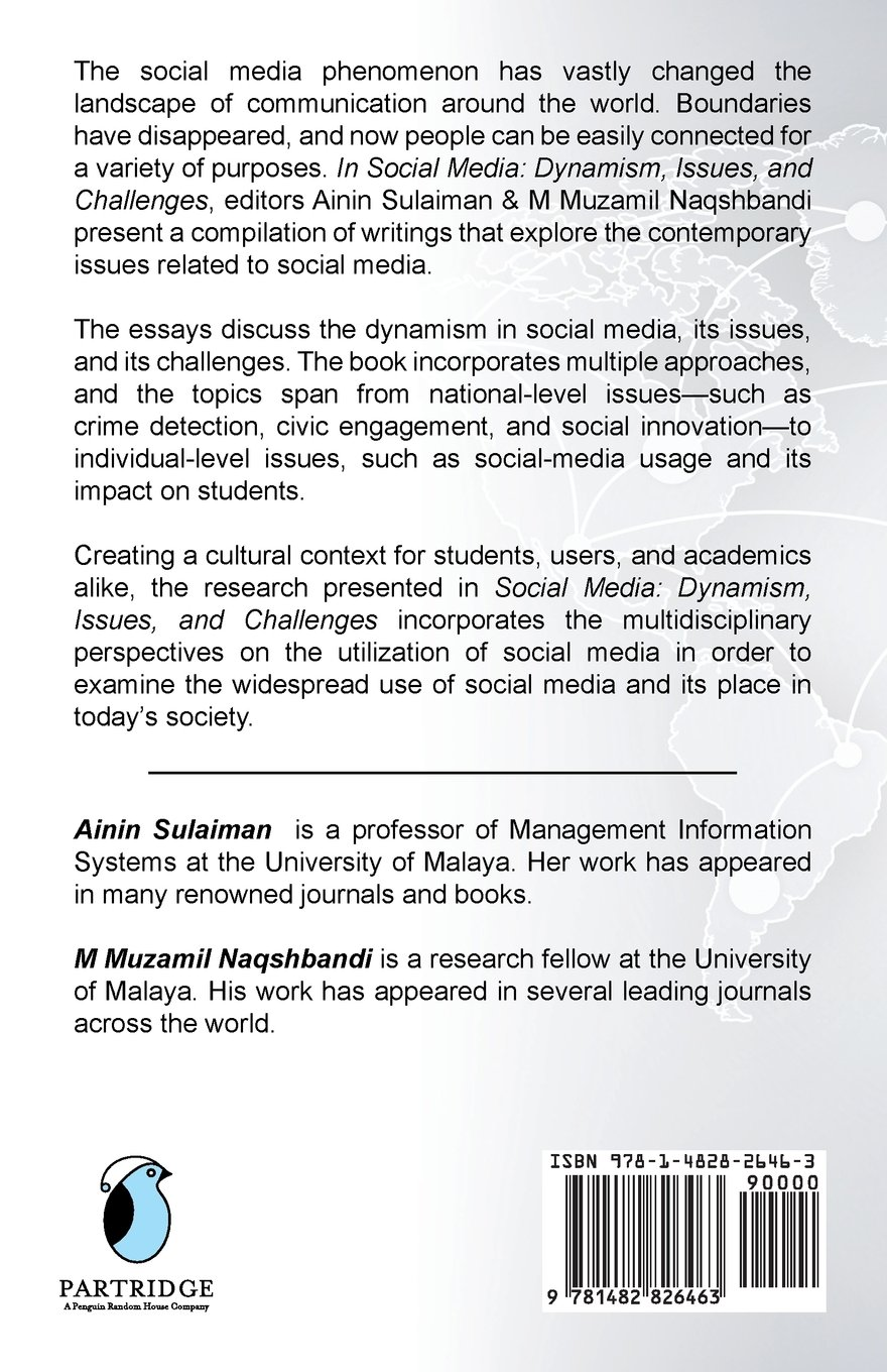 social media dynamism issues and challenges ainin sulaiman m social media dynamism issues and challenges ainin sulaiman m muzamil naqshbandi 9781482826463 amazon com books