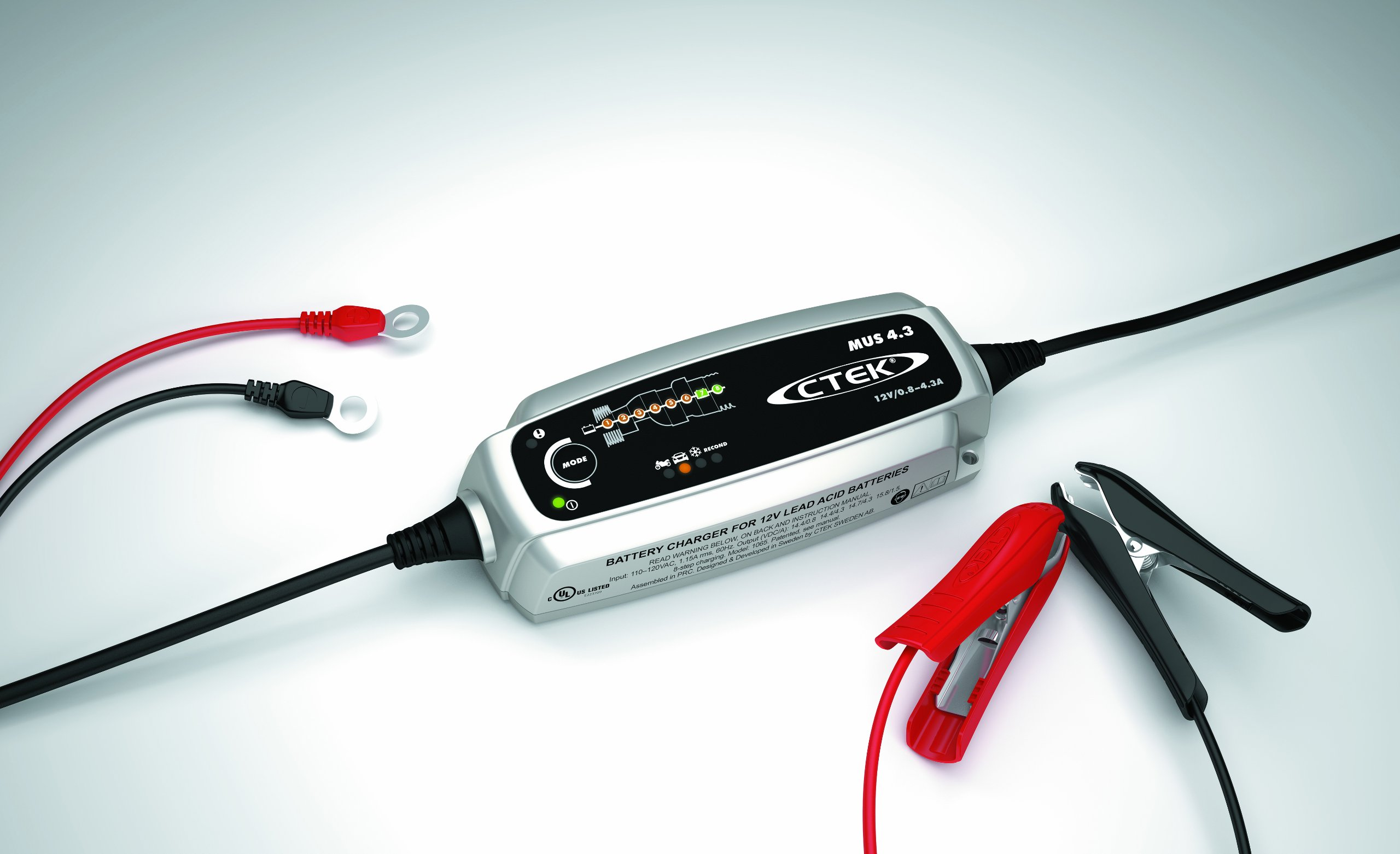 CTEK (56-864) MUS4.3 12 Volt Fully Automatic 8 Step Battery Charger