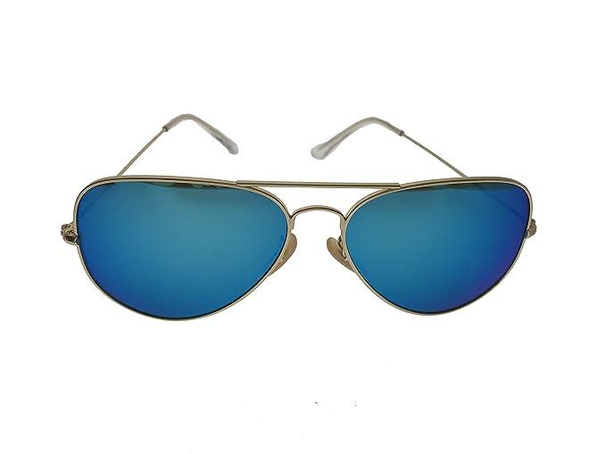 Amazon.com: Gafas de sol clásicas unisex Aviator con marco ...