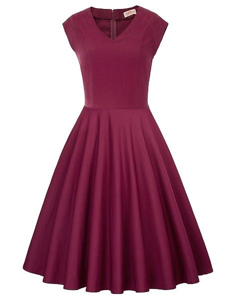 7dfcc842d6d17 Women's 1950s Retro Vintage Short Sleeve Cocktail Dresses Hollowed Front  Dress