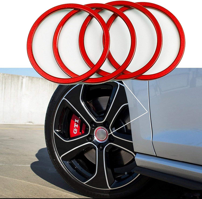 4 Pieces Pack Car Wheel Center Cap Hub Rings Alloy Decoration For VW Volkswagen Tiguan L Caddy EOS Golf Jetta Phaeton Scirocco Sharan Touran ...