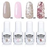 Perfect Summer 4 Colors Gel Nail Polish Soak Off Varnish UV LED Manicure Nail Starter Kits 8ML Each one #002