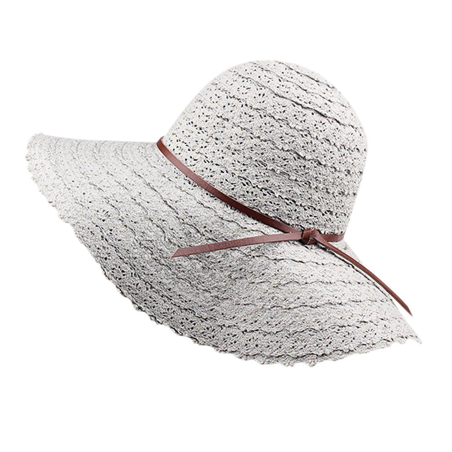 StarTreene Women Summer Beach Hats Foldable Straw Big Brim Girl Travel Sun Hats StaraTreene