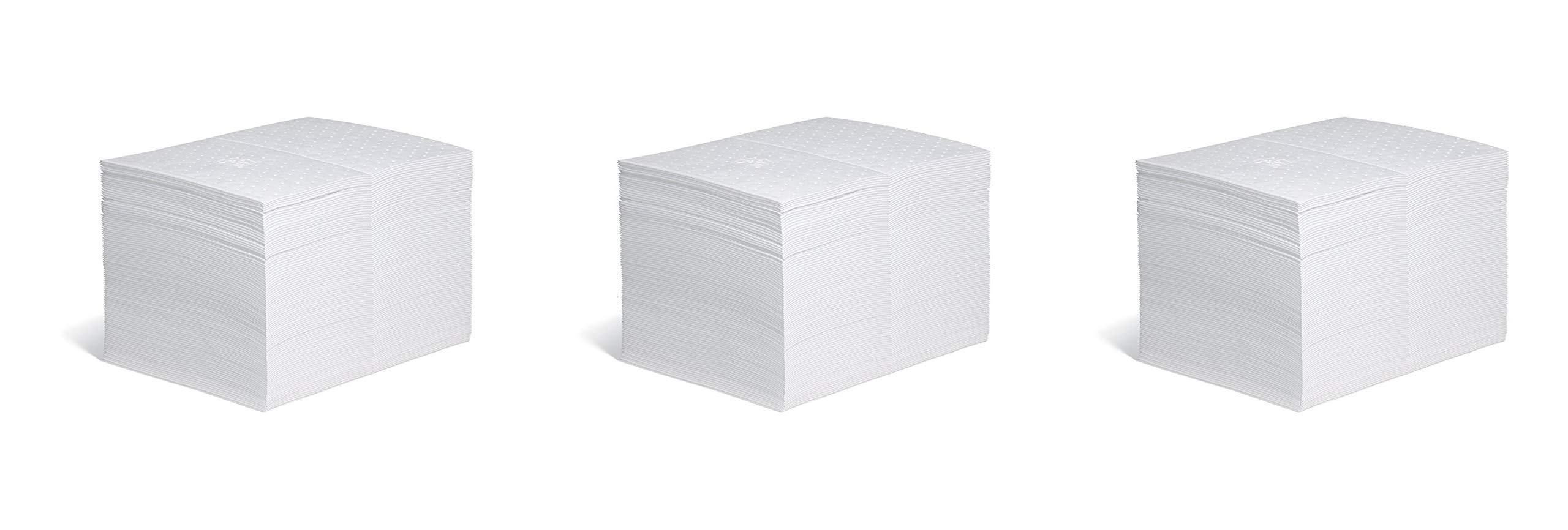 New Pig Oil Mat - 28 Ounce Absorbency - 100 Heavyweight Oil Absorbent Pads - 15'' x 20'' - MAT403 (3 X Pack of 100)