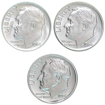 90/% Silver Nice Silver Dime!! 1964 Roosevelt Dime GEM GEM BU++