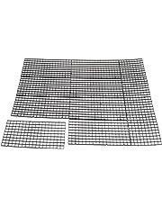 Homyl 10x Aquarium Fish Tank Filter Isolate Board Grid Tray Egg Crate Bottom Black 30x15cm