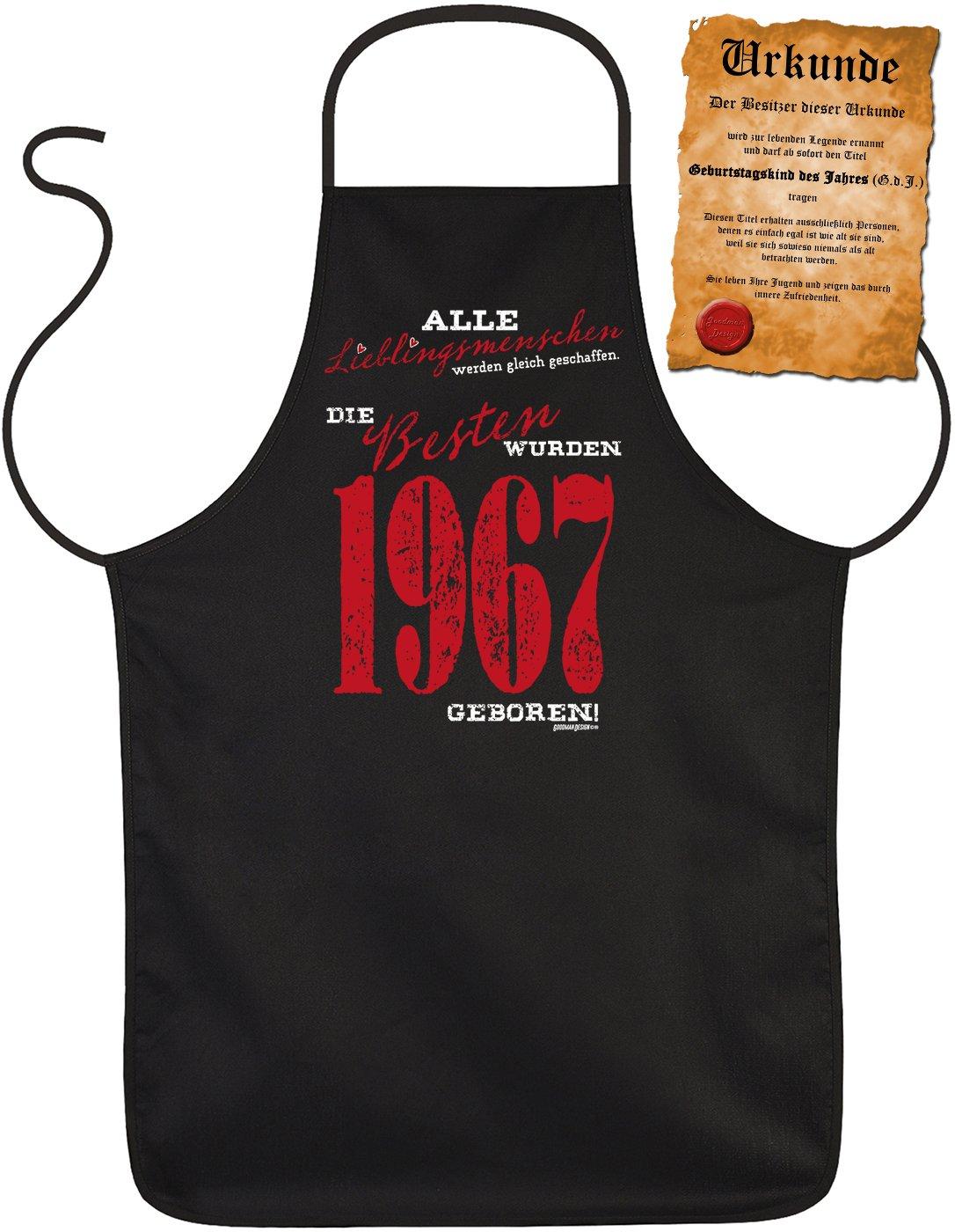 Jahrgang 1977 Lustige Sprüche Grillschürze Geschenk 42