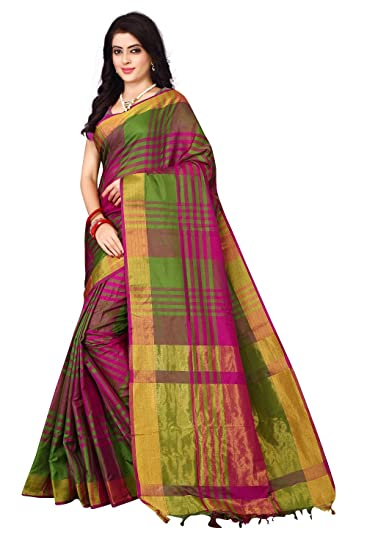 4f56db2123a4a0 Nirmla Fashion Women s Art Silk with Blouse Piece Saree  Amazon.in  Clothing    Accessories