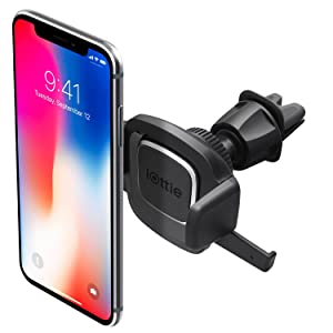iOttie Easy One Touch 4 Air Vent Car Mount Phone Holder || iPhone Xs Max R 8 Plus 7 Samsung Galaxy S10 E S9 S8 Plus Edge, Note 9 & Other Smartphones