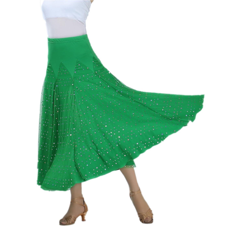 CISMARK Elegant Sequin Ballroom Waltz Dancing Long Swing Party Skirt One Size CISS010-PI