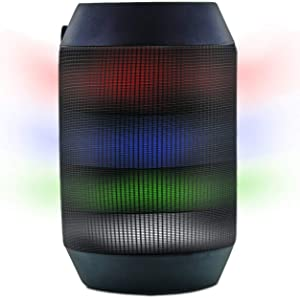 Aduro Amplify LED Bluetooth Wireless Speaker - Color Changing Rave Light Show Party Speaker (BrightSound Mini)
