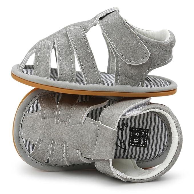 Zapatos Bebe Niño Verano Xinantime Lona Sandalias de Velcro Suela Blanda Zapatos del Antideslizante Zapatos casuales Sneaker Para Recién Nacido Niña Niño ...