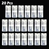 VEIDIA 15ML Clear Deodorant Containers Empty Oval Lip Balm Lipstick Tubes Plastic BPA Free, Pack of 20