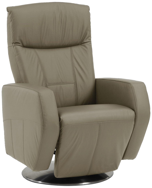 Sino-Living SE-800B-M-03-M Relax und Ruhesessel in Dickleder, beige mit manueller Verstellung